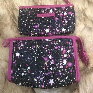 2 tahari cosmetics bags with beautiful stars